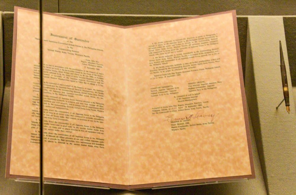 ミズーリ艦上の降伏調印式〜ウェストポイント博物館 - ネイビーブルー ...