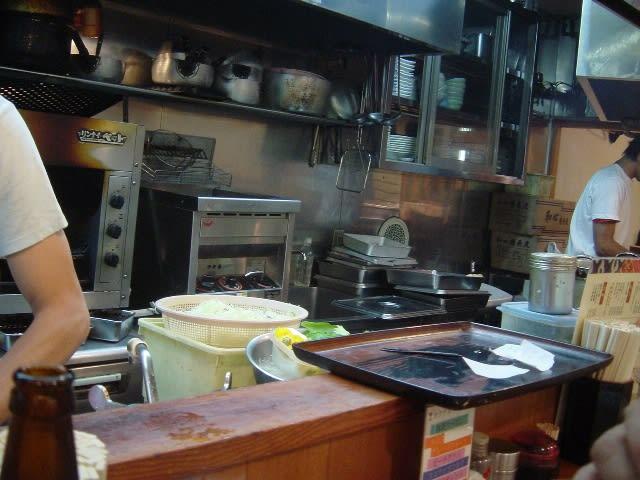 目の前の調理場