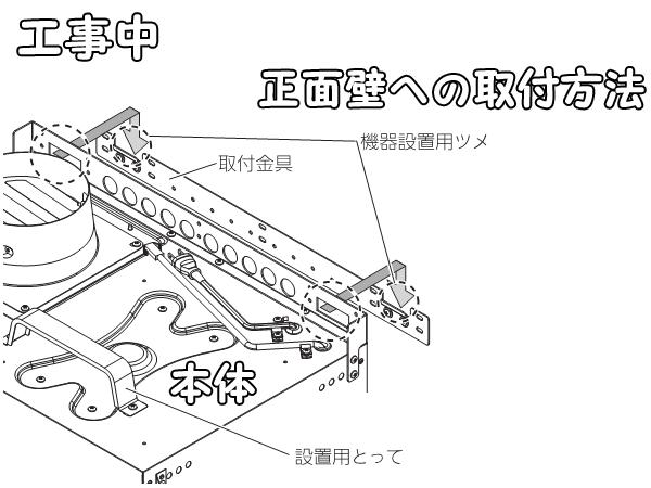 NFG6S13MSIレンジフード固定方法