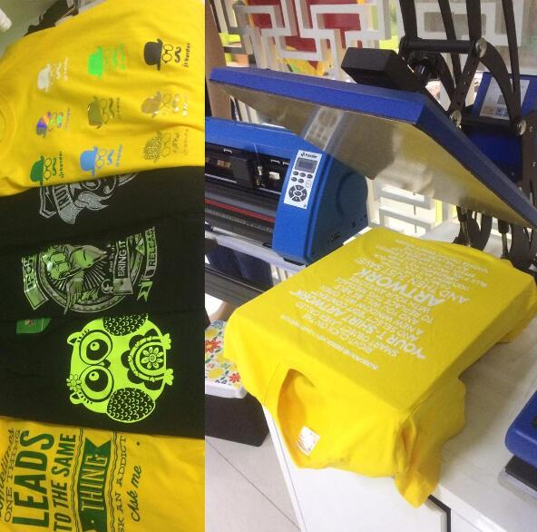 Arts in t shirt heat transfer printing by heat press machine