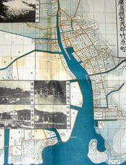 廣島縣賀茂郡竹原町の地図(大正十五年五月二十日発行の復刻版 現在とは海岸線が大きく異なる)