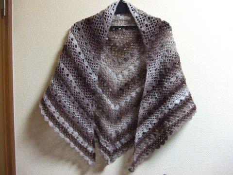 図 ショール 編み