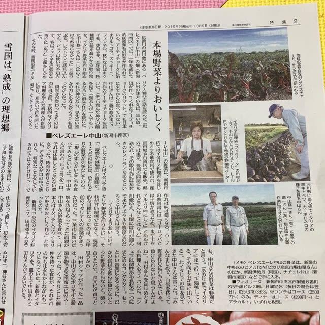 新潟日報で紹介していただきました