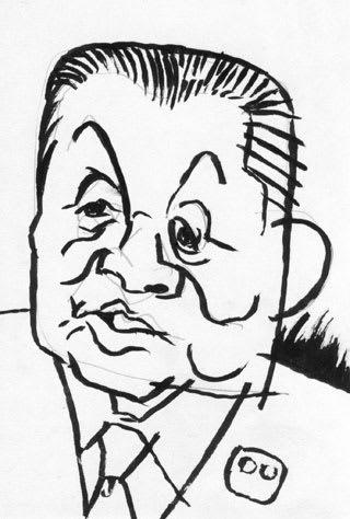 森喜朗似顔絵画像