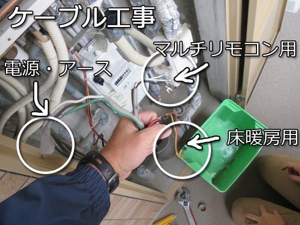 GTH-2444SAWX6H-BL ケーブル工事