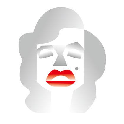 マリリンモンローの似顔絵