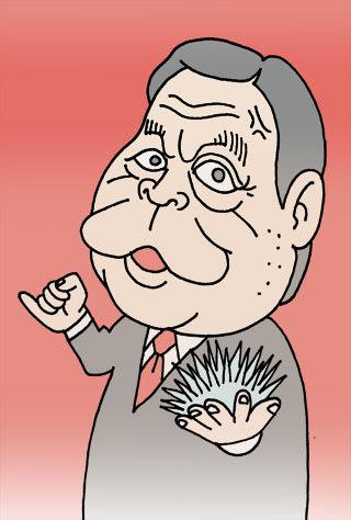 野田佳彦元首相の似顔絵