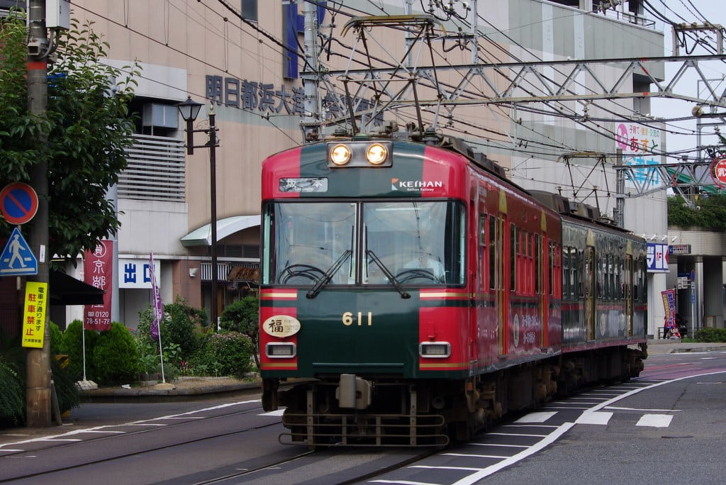 京阪600形坂本ケーブル塗色車