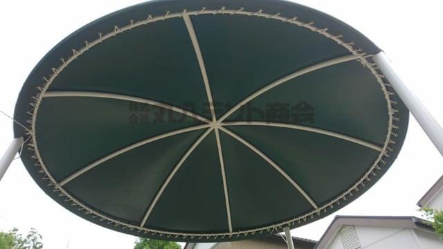 円形テント【パラソルのようなおしゃれなテントです】