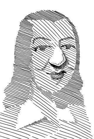 原節子の似顔絵