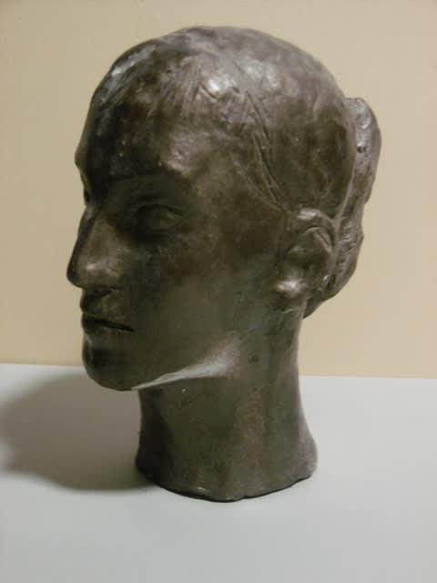 現代彫刻家】「女の首」【現代日本彫刻家】大河原隆則 - <彫刻家 ...