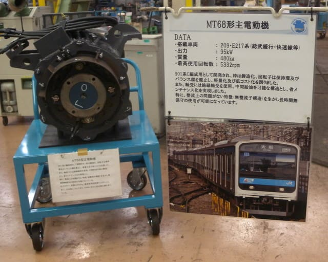 MT68形主電動機(209系の電動機...