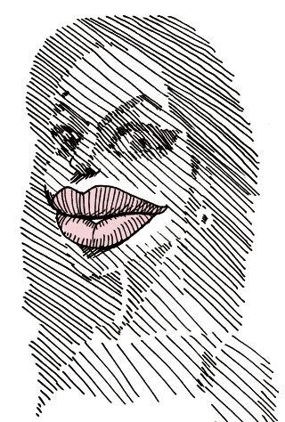アンジェリーナ・ジョリーの似顔絵