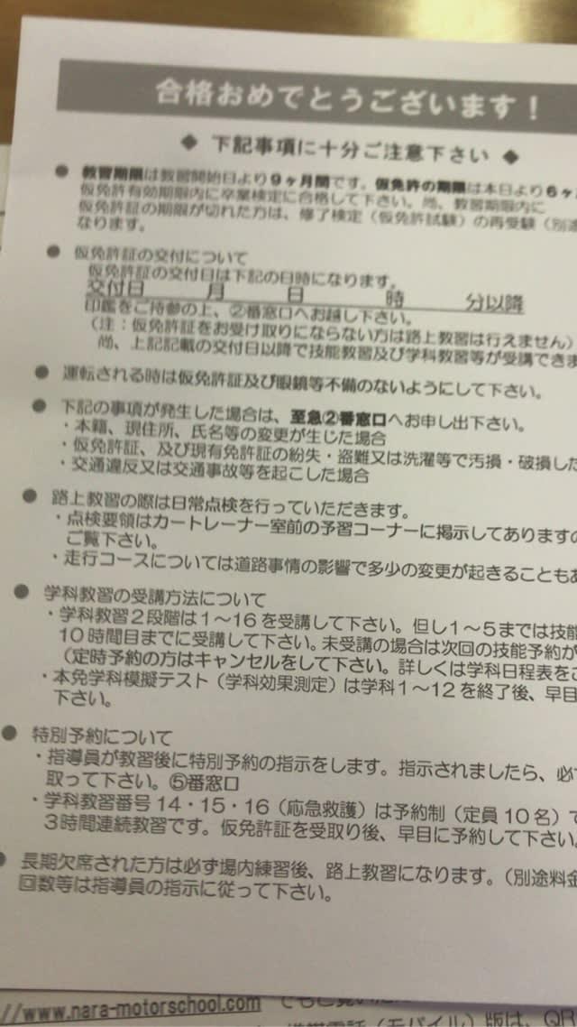 試験 仮 免