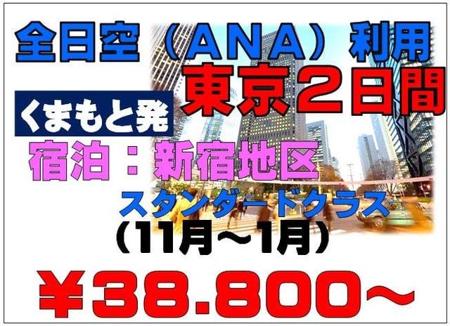 ANAで行く東京パック・新宿泊(熊本発着) - 旅行会社 ウィル ...