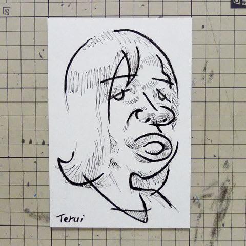 オアシズの大久保佳代子さんの似顔絵イラスト画像