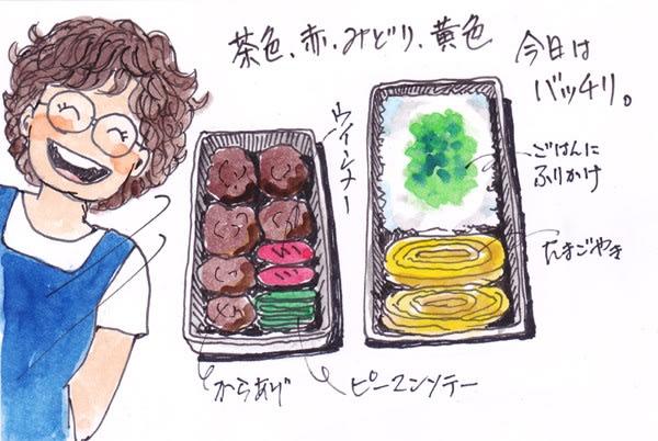 息子のお弁当その3(イラスト)