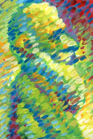 クロードモネの似顔絵イラスト画像
