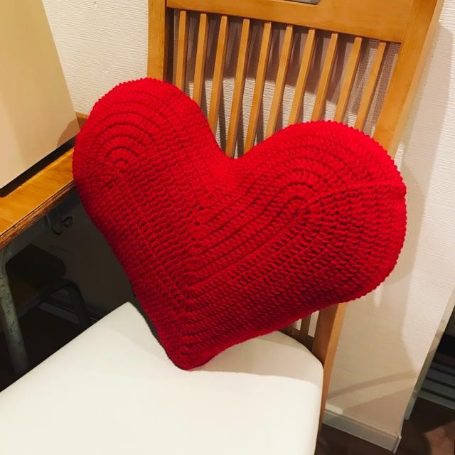 ハート 編み 図