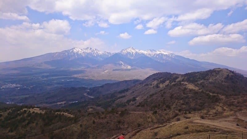 飯盛山から八ヶ岳を望む