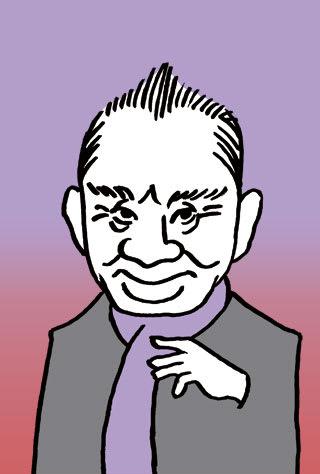 片岡鶴太郎の似顔絵イラスト画像