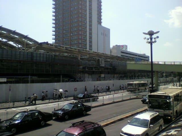 2010年8月の武蔵小金井駅
