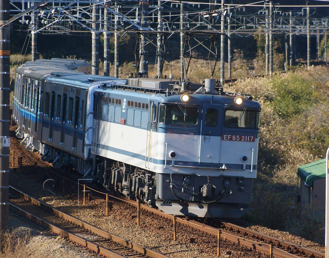 2016年12月17日 東海道線 菊川 ef65 2117 8862レ 甲種215 横浜市営地下鉄