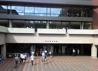 東京都美術館にはここから入るんだよ♪