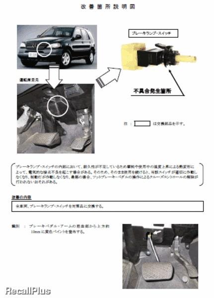 【リコール】ベンツ「Mクラス」4車種のブレーキランプ ...