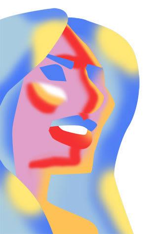 メラニア・トランプの似顔絵