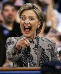 クリントン自重