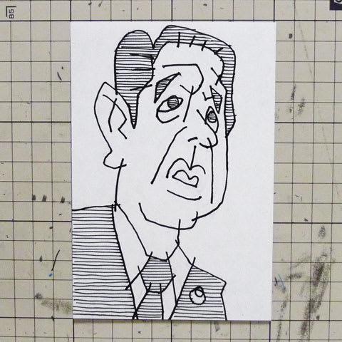 安倍晋三首相似顔絵イラスト画像