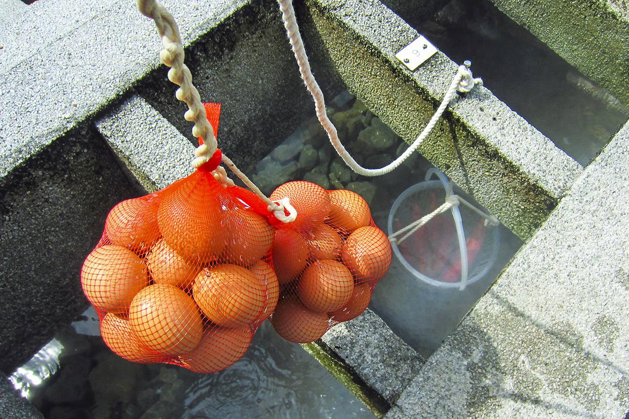 湯村温泉の源泉で\u2025\u2025\u2025卵調理を実行! , □炎のクリエイター日記