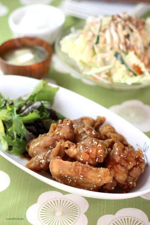 ご飯が進む!鶏の唐揚げ甘辛ソース - マイティの Awesome Cooking