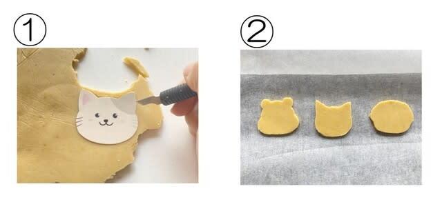ステップ③ 型をとり、クッキー生地を焼成する