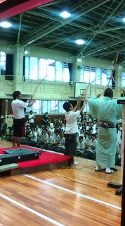 多田中学校で学校寄席!