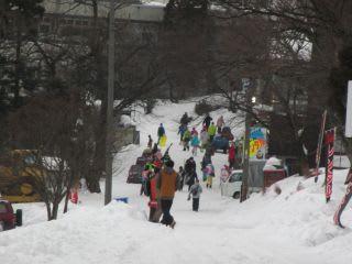 スキー場の通路。