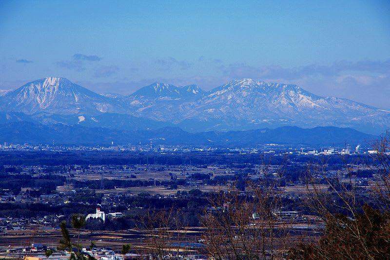 益子町 西明寺 裏 権現平からの風景 26.2.22 - 栃木の木々