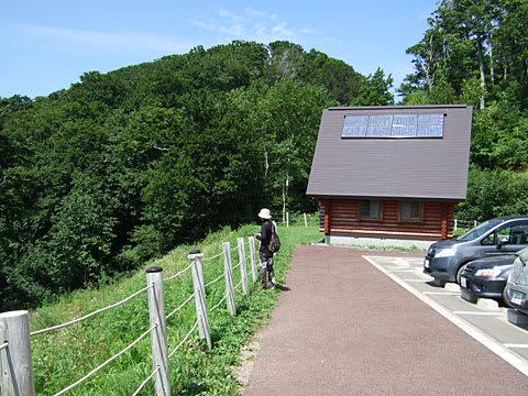 津軽峠の駐車場