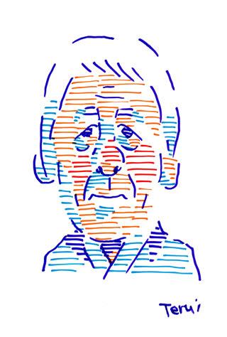 近藤正臣の似顔絵