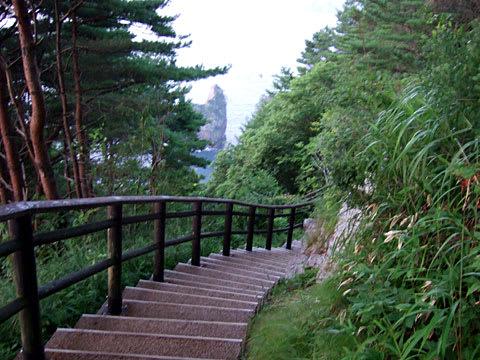 北山崎第二展望台への階段