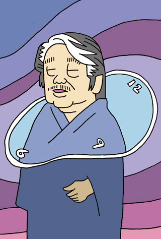 筒井康隆の似顔絵
