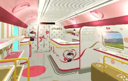 ハローキティ新幹線1号車のイメージ