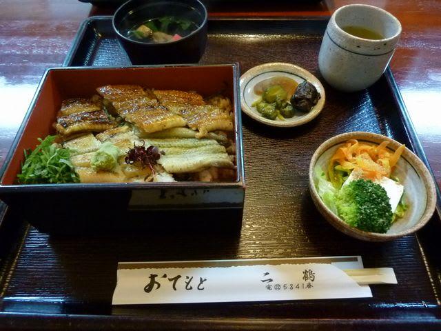 奈良町の鰻屋「二」の二色丼(2300円)