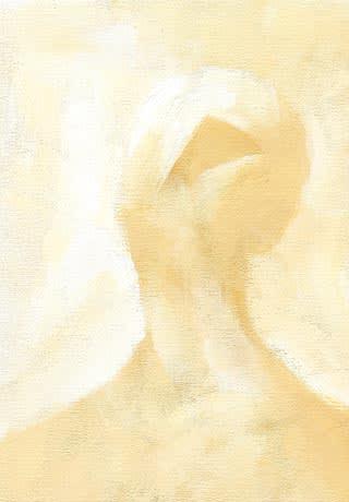 アクリルガッシュ画の人物画1