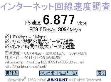 ADSL(8MB)でも十分 - 呑んべぇ爺さん