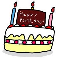お誕生日ケーキ イラスト シンプルイラスト素材