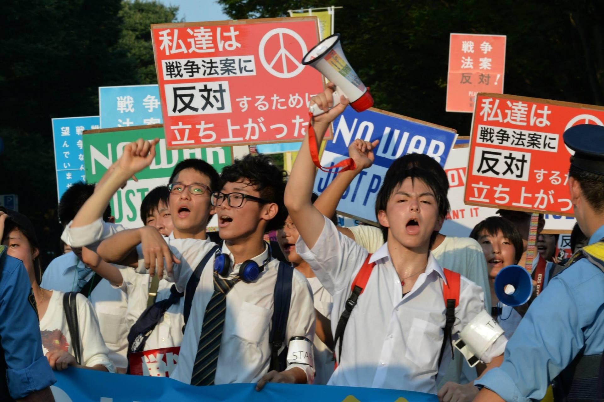 安保法案」反対集会とデモが日本...
