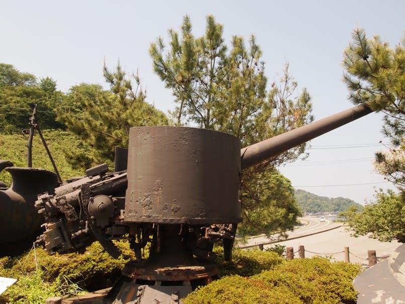 戦艦陸奥 副砲50径14センチ砲 - 観光列車から! 日々利用の乗り物まで