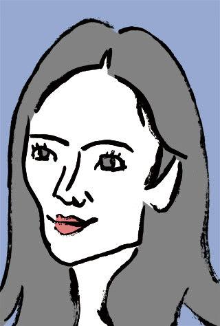仲間由紀恵の似顔絵